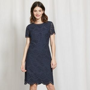 NWT Boden ISADORA Navy BRODERIE DRESS size 6R